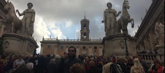 Romadicebastamanifestazione contro degrado
