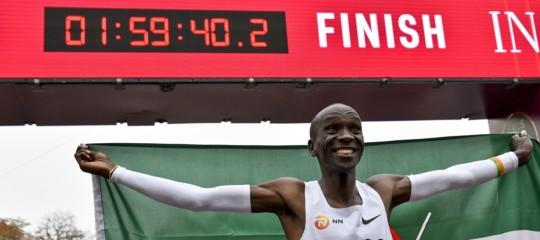 corre maratona sotto due ore