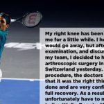 """Federer operato al ginocchio: """"Ci vediamo sull'erba"""""""